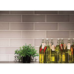 Wickes Soho Steel Ceramic Wall Tile 300 x 100mm Pack