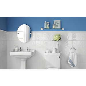Wickes Bumpy White Gloss Ceramic Wall Tile 200x200mm