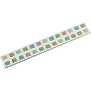 Wickes Natural Gloss Ceramic Mosaic Border Tile 250 x 35mm