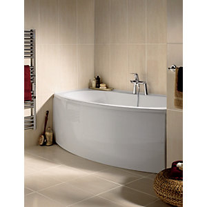 Wickes Romano Beige Gloss Ceramic Wall Tile 600x300mm