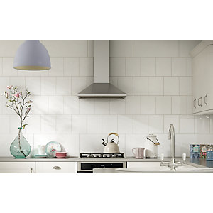 Wickes White Gloss Ceramic Wall Tile 250 x 200mm
