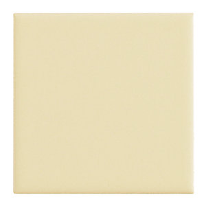 Wickes Cream Satin Ceramic Wall Tile 100x100mm
