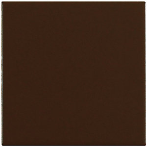 Wickes Brown Satin Ceramic Wall Tile 100x100mm