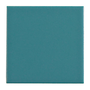 Wickes Blue Satin Ceramic Wall Tile 100x100mm