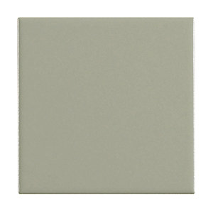 Wickes Grey Satin Ceramic Wall Tile 100x100mm