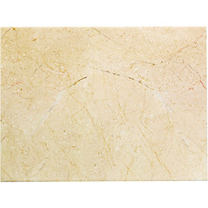 Wickes Crema Marfil Effect Cream Satin Ceramic Floor Tile 600x300mm