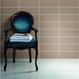 Wickes White Gloss Porcelain Floor Tile 600x600mm