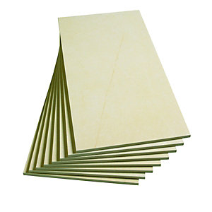 Wickes Cream Satin Glazed Porcelain Wall & Floor Tile 600x300mm