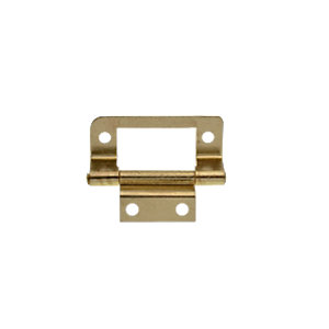 Wickes double cranked flush hinge brass plated 51mm 2 pack for Door viewer wickes