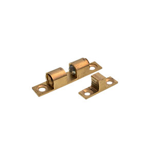 Wickes Double Ball Catch Brass 42mm 2 Pack