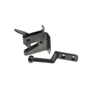 Wickes Heavy Duty Auto Gate Latch Black 150mm