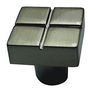 Wickes Tile Knob Chrome 20mm 4 Pack