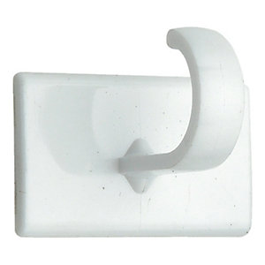 Wickes Small Self Adhesive Cup Hook White 4 Pack