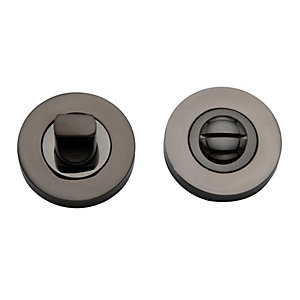 Wickes WC Thumbturn & Release Black Nickel Finish 50mm