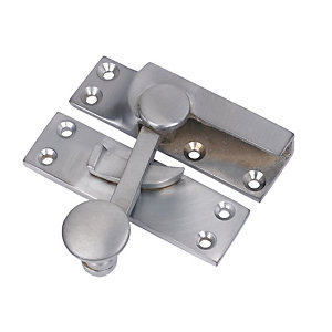 Wickes Sash Fastener Satin Chrome 72 x 21 mm