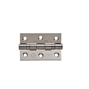 Wickes Grade 7 Fire Rated Ball Bearing Hinge Stainless Steel 75mm 2 Pack