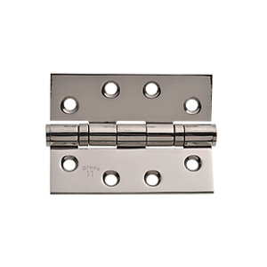 Wickes Grade 11 Fire Rated Ball Bearing Hinge Polished Stainless Steel 102mm 2 Pack