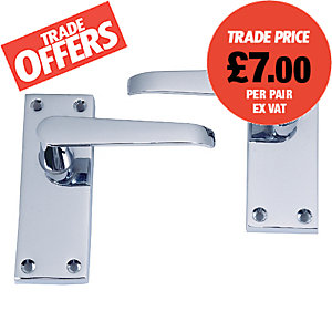 4Trade Victorian Lever Latch Chrome
