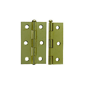 4Trade Hinges Loose Pin Butt Electro Brass 75mm Pack of 2