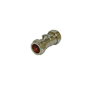 Straight Isolating Valve Chrome 22mm