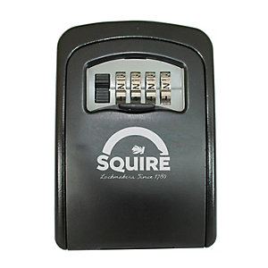 Squire Wall Mounted Combination Key Keep Black