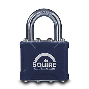 Squire 35 Laminated Padlock Open Shackle 28mm