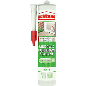 UniBond Weather-Guard Outdoor Window & Door Frame Sealant Cartridge White 300ml