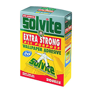 Solvite All Purpose Wallpaper Adhesive 20 Roll
