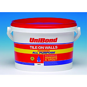 UniBond All Purpose Wall Tile Adhesive & Grout White 2.5L