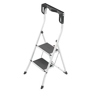 Hailo 2 tread high rail stepstool with knee rests