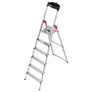 Hailo 6 tread step ladder with handy tool tray