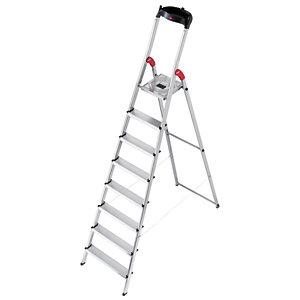 Hailo 7 tread step ladder with handy tool tray