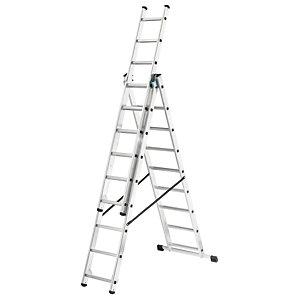 Hailo combination ladder with stabalizer bar