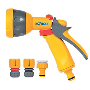 Hozelock Garden Hose Multi Spray Gun Starter Set