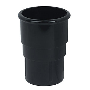 Wickes Black Miniline Downpipe Connector