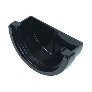 Wickes Black Miniline Gutter External Stopend