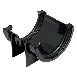 Wickes Black Miniline Gutter Joint Bracket
