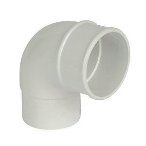 Wickes White Roundline Downpipe 92.5 Deg Bend