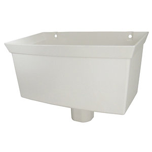 Wickes White Roundline Rainwater Hopper