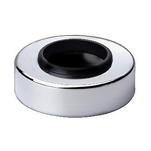 Wickes Pipe Cover Chrome Finish 32mm