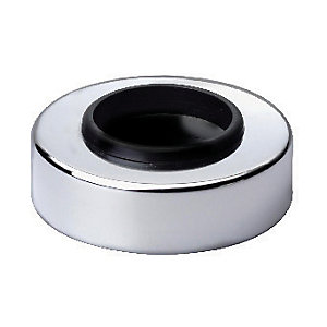 Wickes Pipe Cover Chrome Finish 40mm