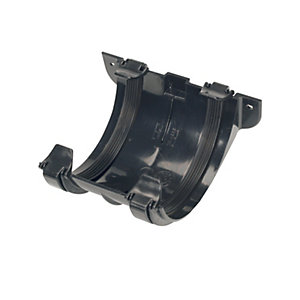 Wickes Roundline Gutter Jointing Bracket Black Pk 10