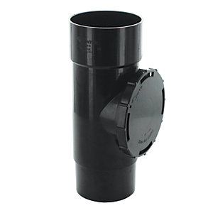Wickes Roundline 68mm Access Pipe Black