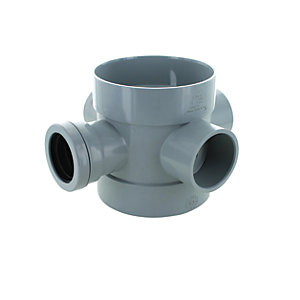 Wickes 110 x 40mm Short Boss Pipe Grey