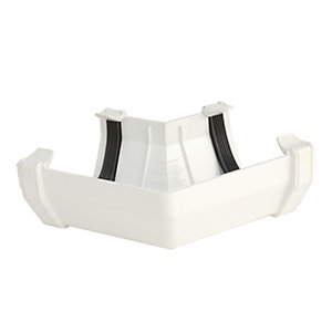 Wickes 114mm Squareflo 120 Deg Angle White
