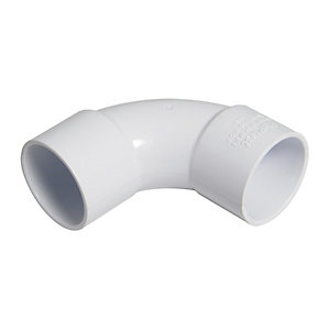 Wickes/Building & Timber Products/Guttering & Drainage/Wickes Solvent Weld Waste 50mm White 92.5 Deg Swept Bend