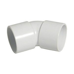 Wickes/Building & Timber Products/Guttering & Drainage/Wickes Solvent Weld Waste 50mm White 135 Deg Swept Bend
