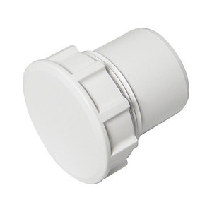 Wickes/Building & Timber Products/Guttering & Drainage/Wickes Solvent Weld Waste 50mm White Access Cap