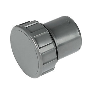 Wickes/Building & Timber Products/Guttering & Drainage/Wickes Grey Solvent Weld Waste Access Cap 40mm