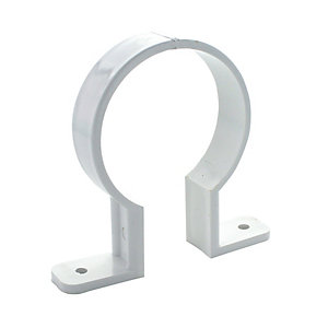 Wickes 68mm White Downpipe Bracket
